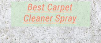 Best Carpet Cleaner Spray