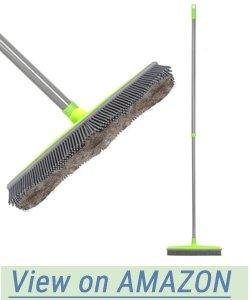 Landhope Extra Large Push Broom With Squeegee Edge