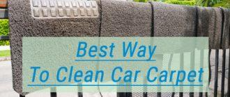 Best Way To Clean Car Carpet