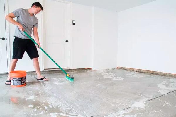 clean garage floor
