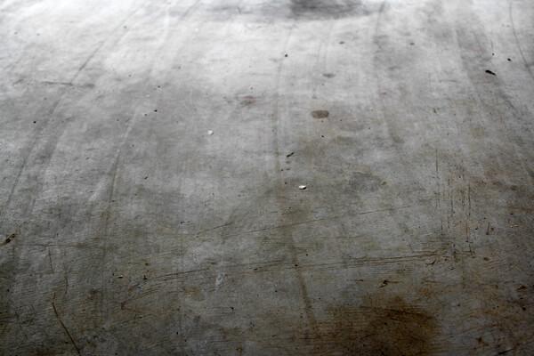dirty floor in the garage