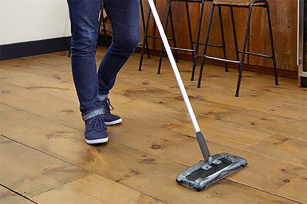 easy clean with sweeper