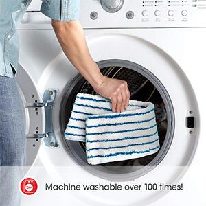 Microfiber pad is is eco-friendly and machine washable up to 100x