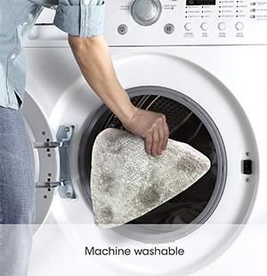 Microfiber pad is machine washable up to 25 times