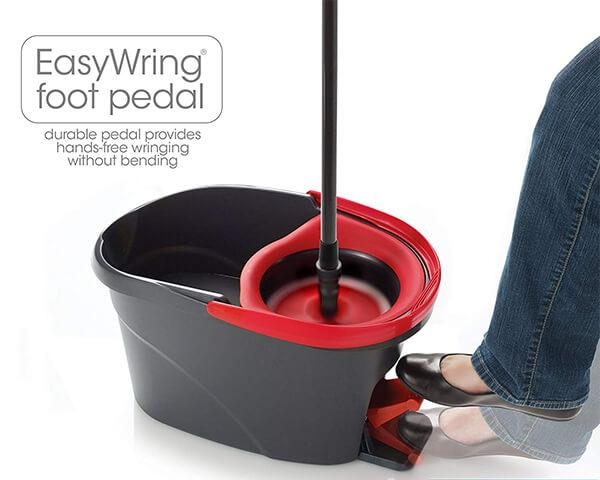 O-Cedar EasyWring Microfiber Spin Mop Bucket Floor Cleaning System