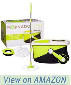 Mopnado Deluxe Stainless Steel Rolling Spin Mop